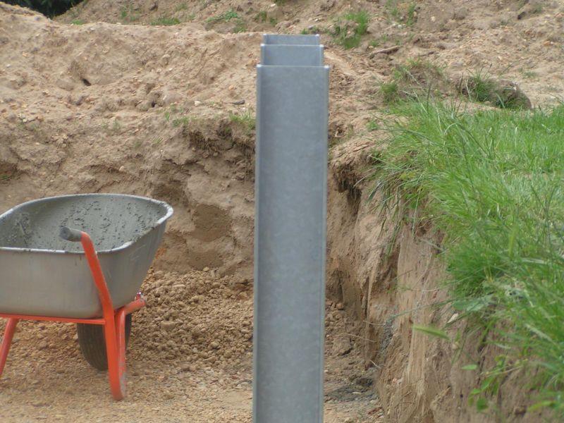 Installation des berceaux m talliques installation for Installation piscine bois