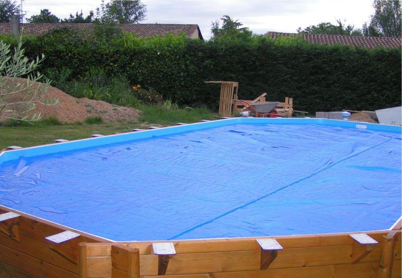 Pose des margelles installation piscine bois cerland moor a solt ra 4 90 x - Pose margelle bois piscine ...